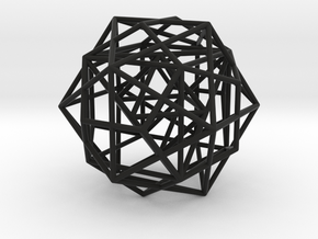 Nested Platonic Solids -Round Wires in Black Premium Strong & Flexible