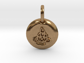 Stylized Triquetra Charm in Natural Brass