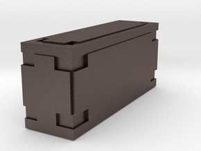 Wookiee Ammo Box (small) in Polished Bronzed Silver Steel