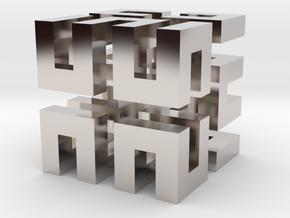 Hilbert cube ( pendant ) in Platinum
