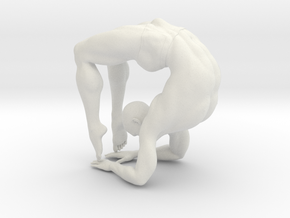 Male yoga pose 008 in White Strong & Flexible: 1:10