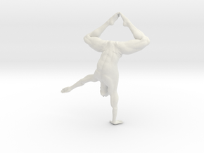 Male yoga pose 009 in White Natural Versatile Plastic: 1:10