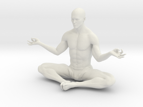 Male yoga pose 010 in White Natural Versatile Plastic: 1:10