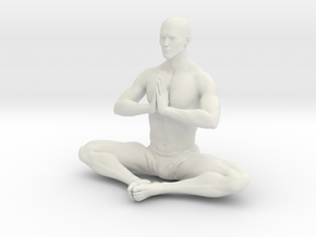 Male yoga pose 011 in White Natural Versatile Plastic: 1:10