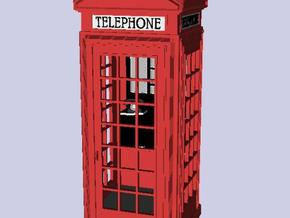 K2 Telephone Box OO (1:76) scale in Smooth Fine Detail Plastic