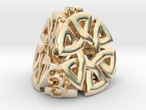 Celtic D4 Alternative in 14k Gold Plated Brass
