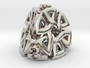 Celtic D4 Alternative in Rhodium Plated Brass