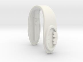 BATMAN LOGO KEY FOB FOR MINI COOPER F MODELS in White Natural Versatile Plastic