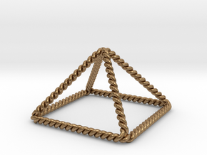Twisted Giza Pyramid in Natural Brass