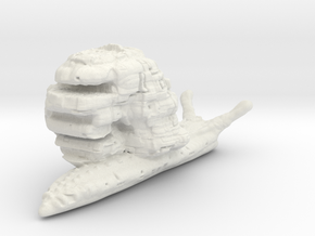 SciFi Snail in White Natural Versatile Plastic