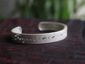 Safari as a Way of Life Bangle in Polished Bronzed Silver Steel