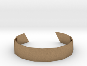 Triangle Facet Bracelet Sizes XS-XL in Natural Brass: Extra Small