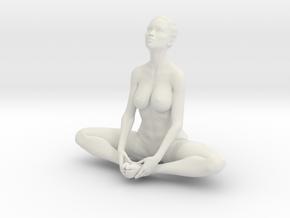 Female yoga pose 010 in White Natural Versatile Plastic: 1:10