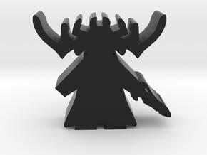 Game Piece, Goddess of Death in Black Natural Versatile Plastic