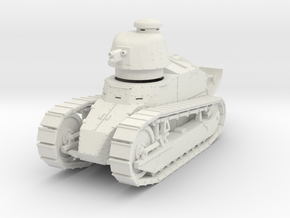 PV07D Renault FT Char Cannon (Girod turret)(1/43) in White Natural Versatile Plastic