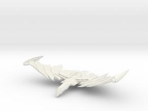 Romulan Vinmaxin Class  WarBird in White Natural Versatile Plastic