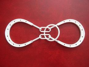 Horse Shoe and Ring puzzle in White Strong & Flexible