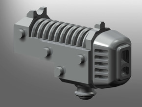 Human-sized Plasma Coilpistol x5 in Smooth Fine Detail Plastic