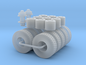 M1070 Wheels tires Winch 1/64 in Frosted Ultra Detail