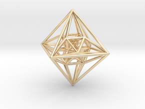 Schlegel Diagram of the 24-Cell in 14k Gold Plated Brass