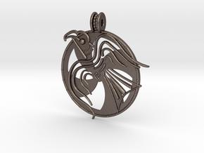 Norrelag pendant in Polished Bronzed Silver Steel