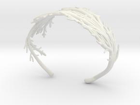 Coral Cuff in White Natural Versatile Plastic