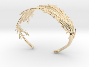 Coral Cuff in 14K Yellow Gold