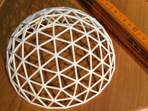 Geodesic Dome in White Natural Versatile Plastic