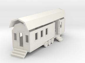 Tiny House #92 - 1:87 Scale Miniature in White Natural Versatile Plastic