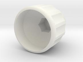 M6 - Scheppach Knob in White Natural Versatile Plastic