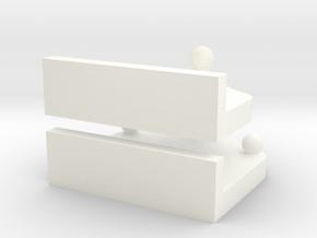 1:32 Kugelkopf Kupplungen K80 in White Processed Versatile Plastic: 1:32