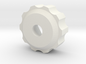M6 - Knob Low in White Natural Versatile Plastic