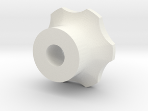 M6 - Knob High in White Natural Versatile Plastic