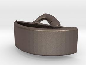 Yoga Jewelry earring 1 hoop in Polished Bronzed Silver Steel