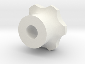 M10 - Knob High in White Natural Versatile Plastic