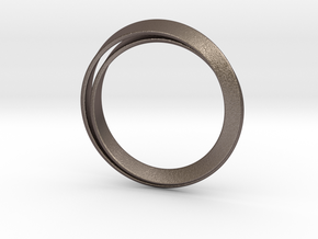 Möbius bracelet in Polished Bronzed Silver Steel: Extra Small