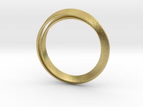Möbius bracelet in Natural Brass: Extra Small