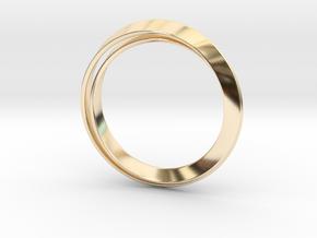 Möbius bracelet in 14k Gold Plated Brass: Extra Small