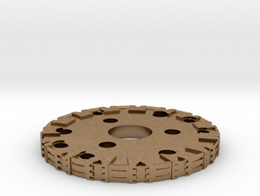 Detailed Chassis Disk in Natural Brass