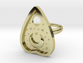 Mystic Planchette Ring size 8 in 18k Gold Plated Brass
