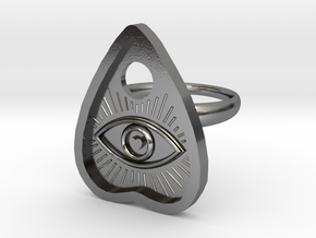 Eye of the Beholder Planchette ring size 8 in Polished Silver