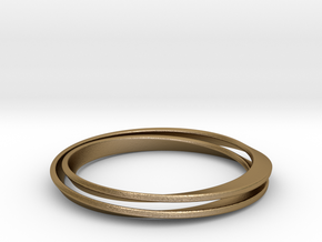 Möbius bracelet in Polished Gold Steel: Medium