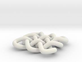 3x3 braid   in White Natural Versatile Plastic