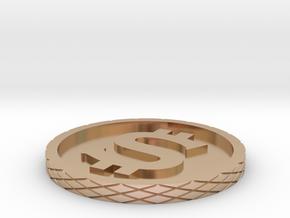 Dollar Coin - Single Material in 14k Rose Gold