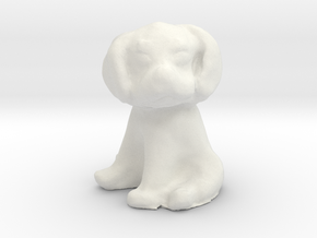 1/12 Puppy Sitting in White Natural Versatile Plastic