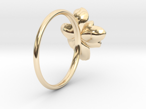 Wild Rose Ring in 14k Gold Plated Brass: 5 / 49