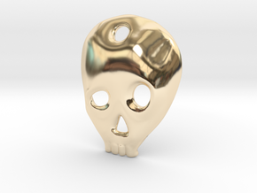 SKULL charm or pendant in 14K Yellow Gold