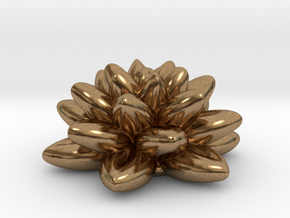 Fractal Flower 06 Redux in Natural Brass