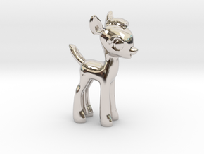 "My Little OC: Faun 1.5"" in Rhodium Plated Brass"