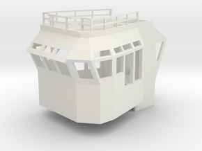 Basic Bridge 1/75 fits Harbor Tug in White Natural Versatile Plastic